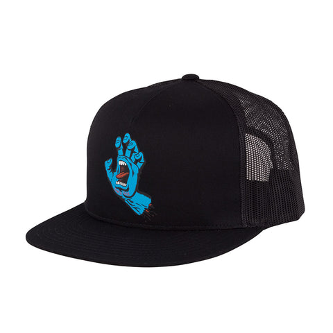 Screaming Hand Front Mesh Trucker High Profile Hat Blk OS