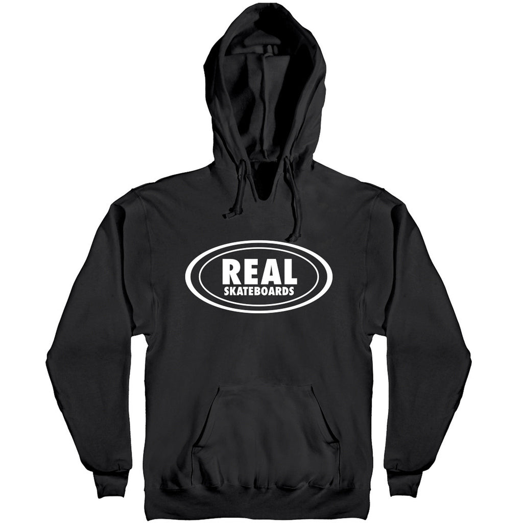 Oval Pullover Hoodie Blk/Wht (size options listed)