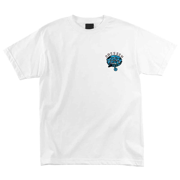 Dressen Pup Dot S/S Tee Shirt Wht (size options listed)
