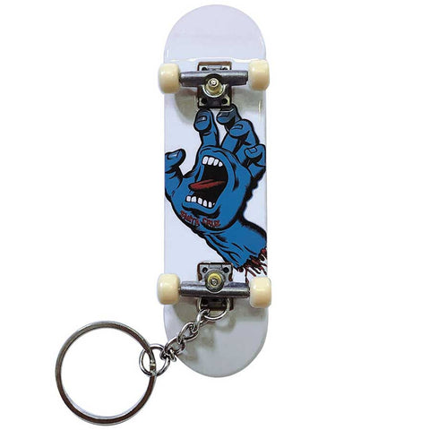 Screaming Hand Finger Board Key Chain Wht OS