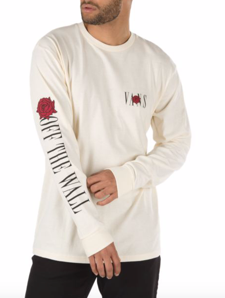 Kyle Walker Rose L/S Tee Shirt Antique/Wht (size options listed)