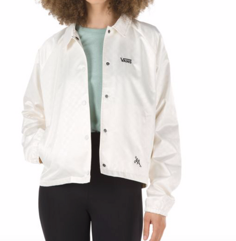 Womens Heart Lizzie Coaches Jacket Ant/Wht (size options listed)
