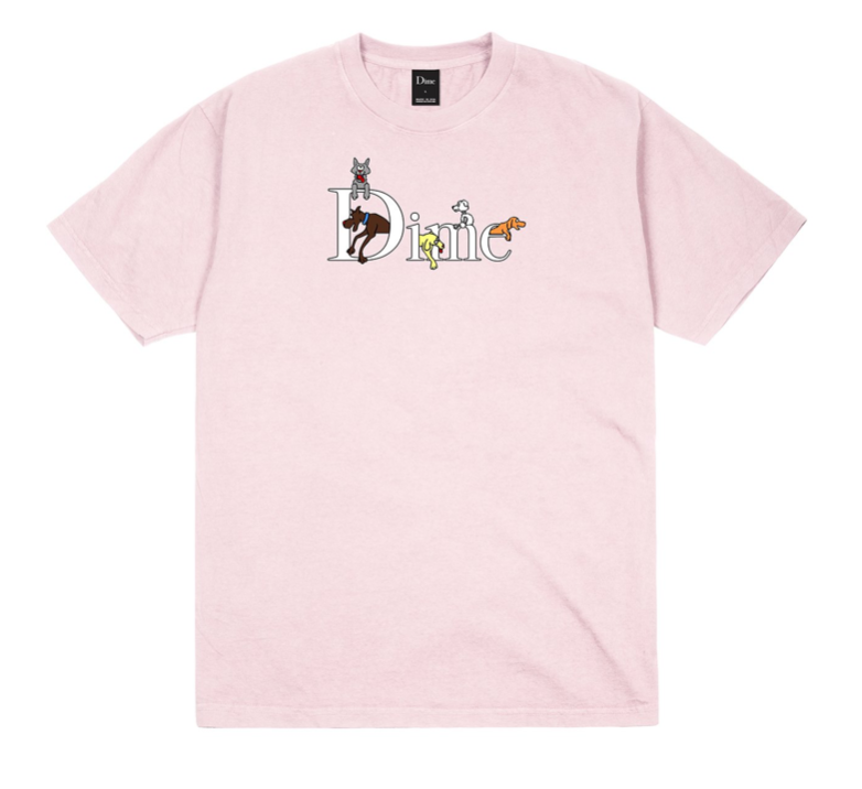Dog Classic Logo S/S Tee Shirt Lt. Pnk (size options listed)