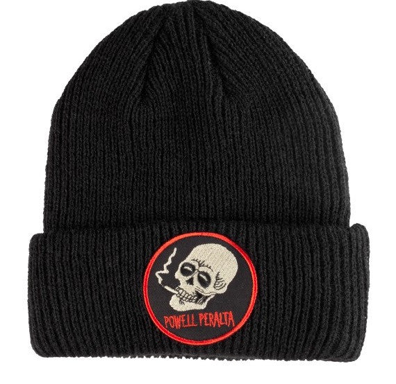 Smoking Skull Black Beanie (OS)