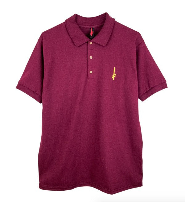 Gang Logo Polo Shirt (Maroon)