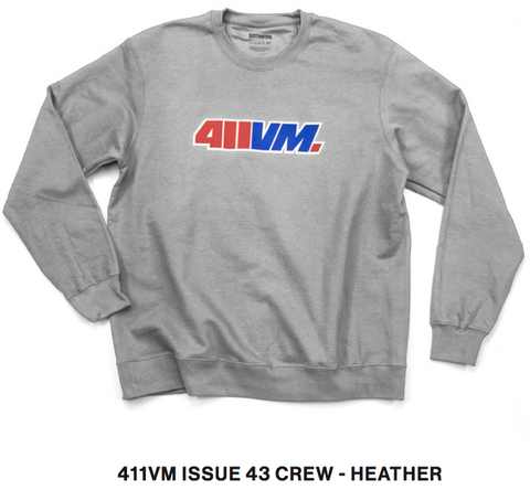 411vm Issue 43 L/S Crew Neck Sweatshirt Hthr (size options listed)