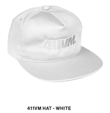 411vm Adjustable Strapback Hat Wht OS