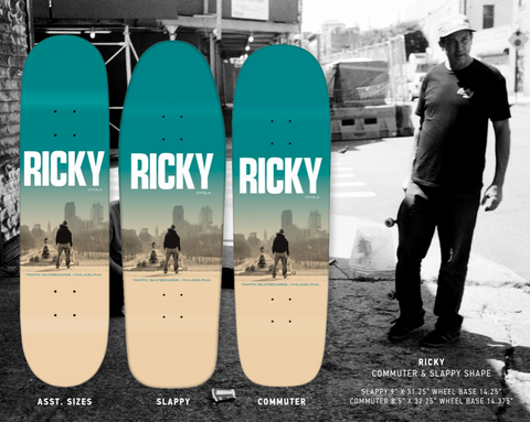 Ricky Pro Deck Cream/Blue (size options listed)