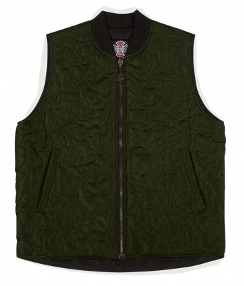 Core Vest Reversible Top Jacket Forest Green (size options listed)