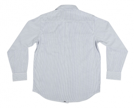 Block L/S Button Up Top Blu/Wht (size options listed)