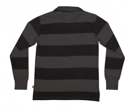 Scrum L/S Rugby Top Dark Grey/Blk (size options listed)