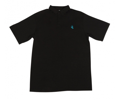 Screaming Hand S/S Polo Top Shirt Blk (size options listed)