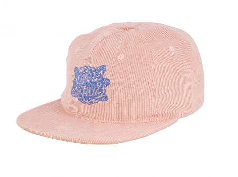 Rose Dot Snapback Adjustable Hat Dusty Pink OS Womens