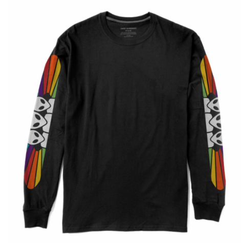Spectrum L/S Tee Shirt Blk (size options listed)