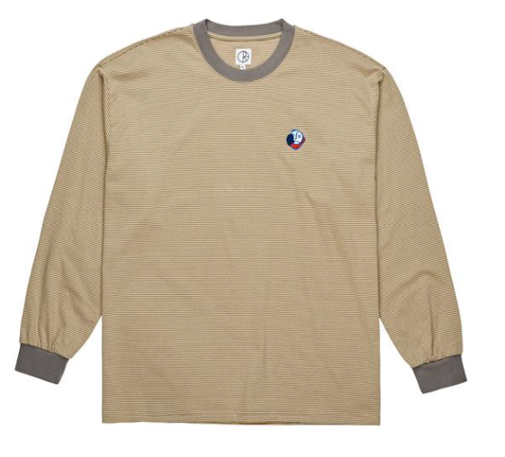 Big Boy Microstripe Longsleeve Tee Shirt Grey/Light Yellow (size options listed)