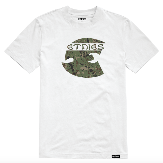 Cream S/S Tee Wht (size options listed)