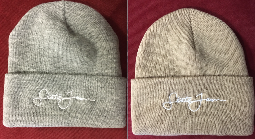 Skate Jawn Embroidery Beanie OS (color options listed)