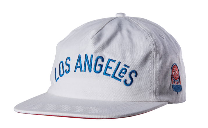 Los Angeles Adjustable Snapback Hat Wht OS