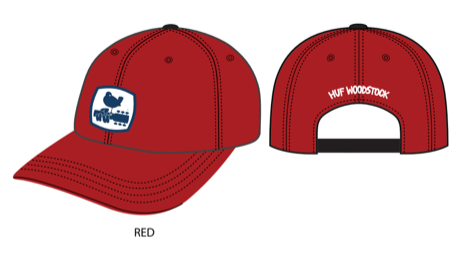 Woodstock Staff Hat Red OS