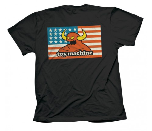 American Monster S/S Tee Shirt Blk (size options listed)