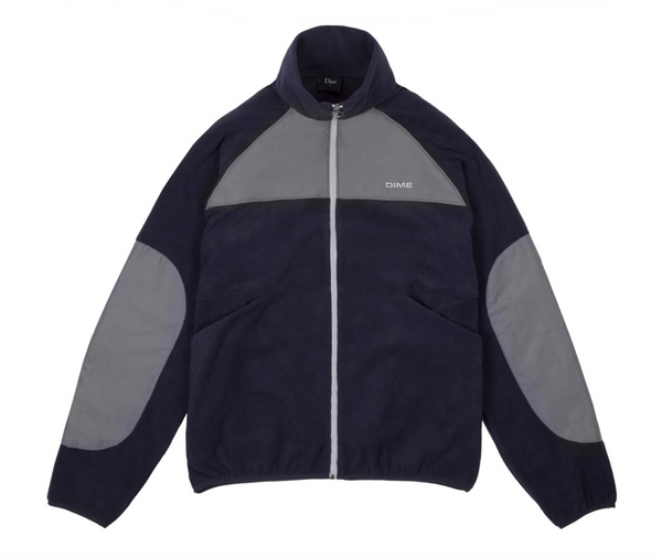 Polar Fleece Track Jacket Nvy/Charcoal (size options listed)