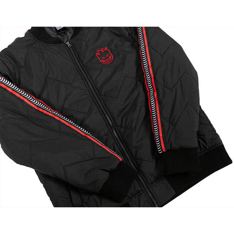 Bighead Bomber Jacket Black/Red (size options listed)