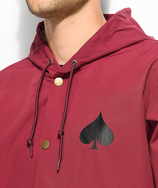 New Oath Coach Jacket w/Hood Cardinal XL