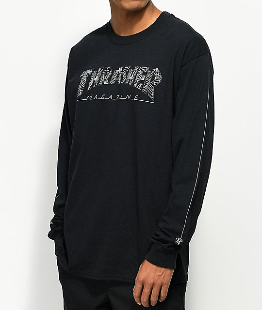 Web L/S Tee Shirt Blk (size options listed)