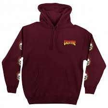 Bonehead Fade P/O Heavyweight Hooded Sweatshirt Maroon (size options listed)