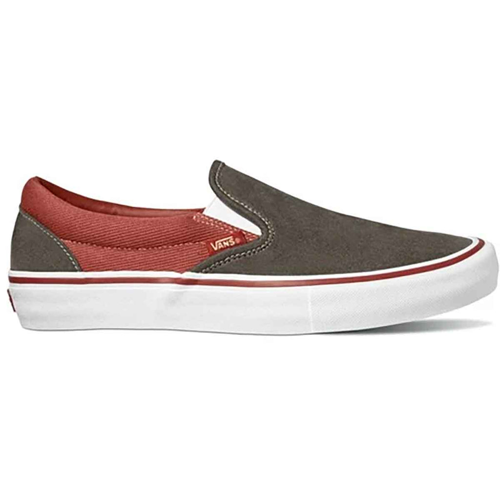 Slip On Pro Shoe Hvy Twill Olv/Henna (size options listed)