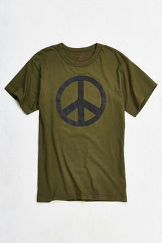 Peace S/S Tee Olv (size options listed)