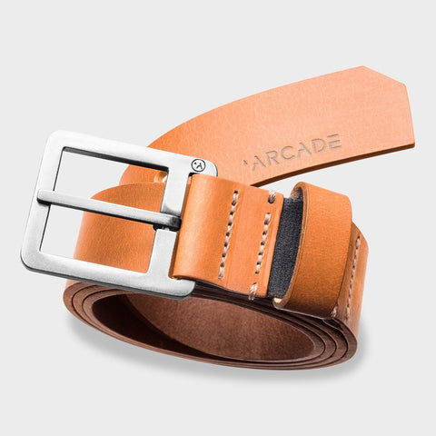 Padre Tan Leather Belt (size options listed)