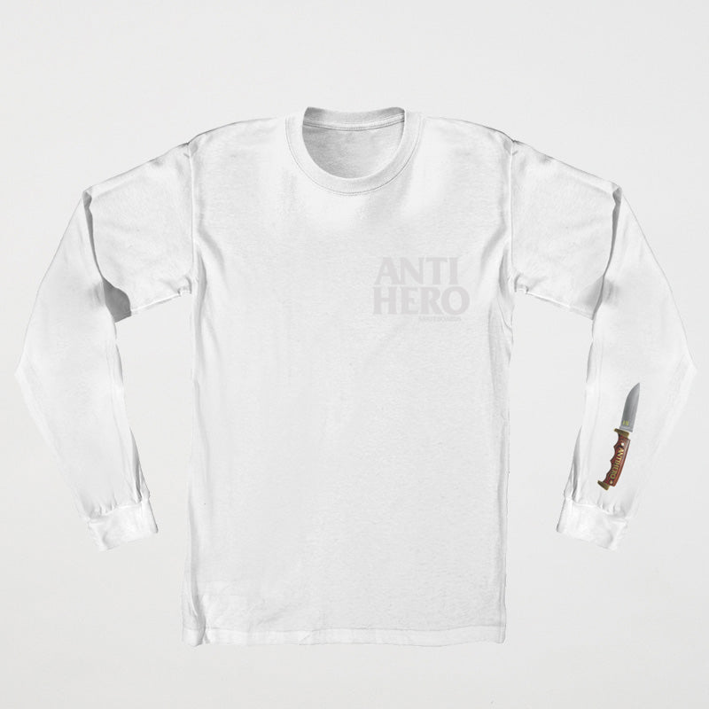 Buckshank L/S Tee Wht/Gry (size options listed)