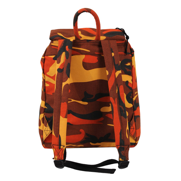 Canvas Daypack Backpack Orange Camo OS