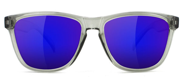 Deric Sunglasses Clear Gry/Blu Mirror OS