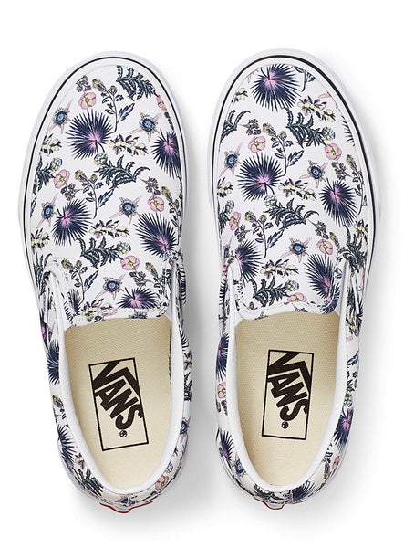 Paradise Floral Classic Slip On Shoe TruWht/TruWht (size options listed)