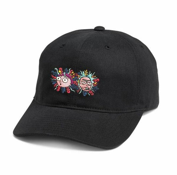 Rick And Forty 5 Panel Adjustable Dad Hat Black OS