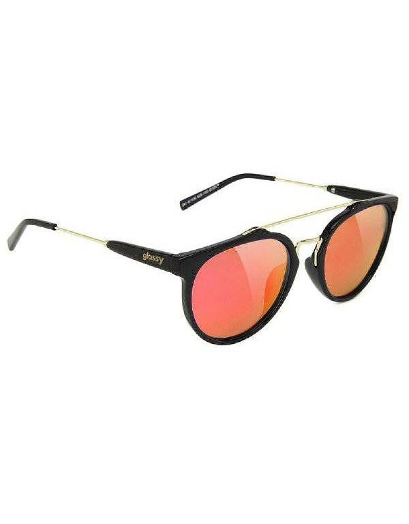 Chuck Blk/Red Mirror Sunglasses