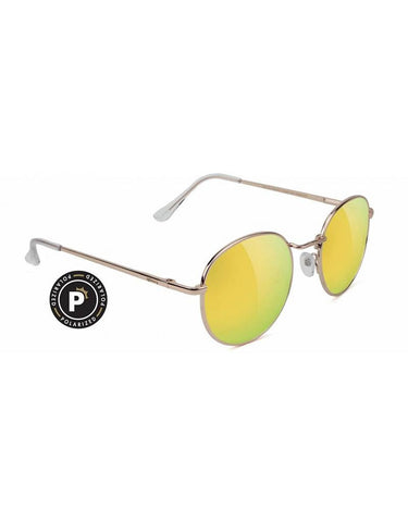 Carlos Gold/Gold Mirror Sunglasses (Polarized)