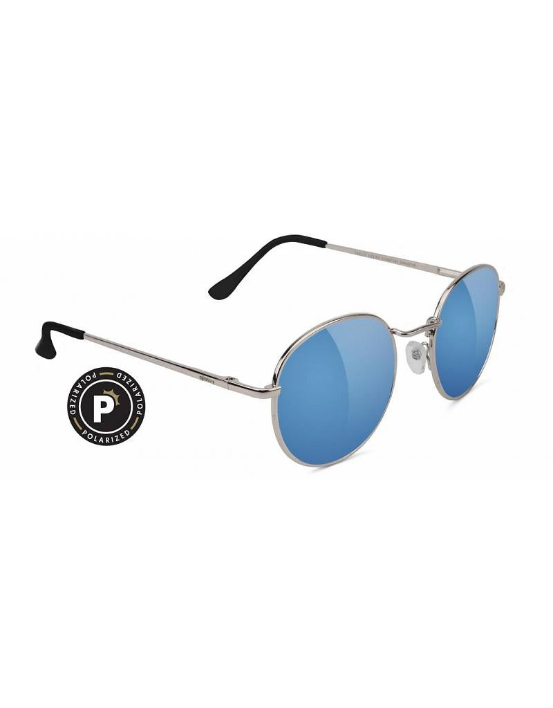 Carlos Silver/Teal Mirror Sunglasses (Polarized)