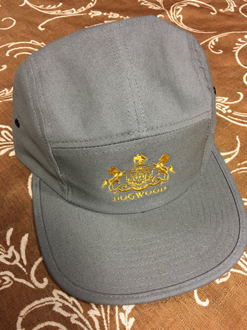 Horses 5 Panel Camper Hat Gry/Gld OS