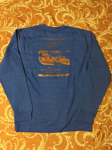 Speedway Crew Sweatshirt Blu/Brwn (size options listed)