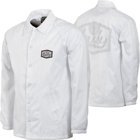Indy Patch Coach Windbreaker Jacket Wht Lrg