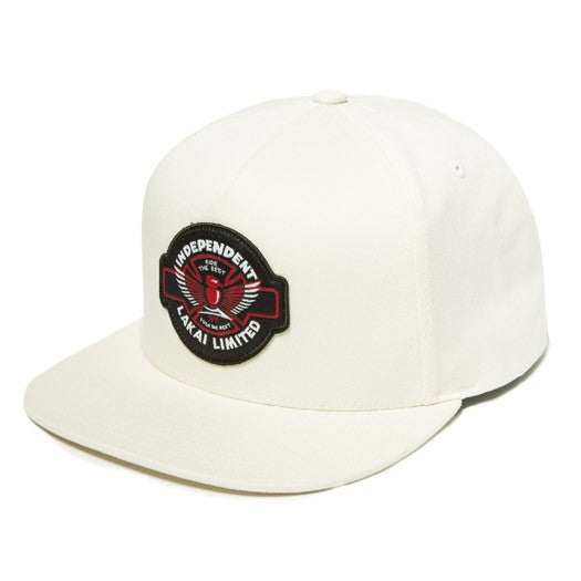 Indy Collab Snapback Wht Hat OS 100% Cotton OS