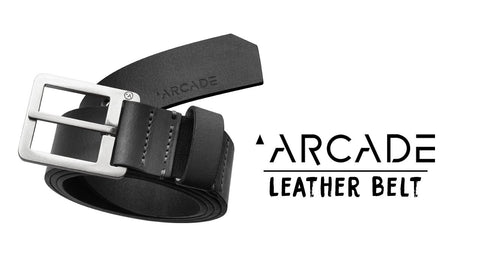 Padre Black Leather Belt (size options listed)