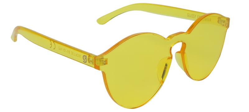 Glassy - Mollie Sunglasses Yellow OS