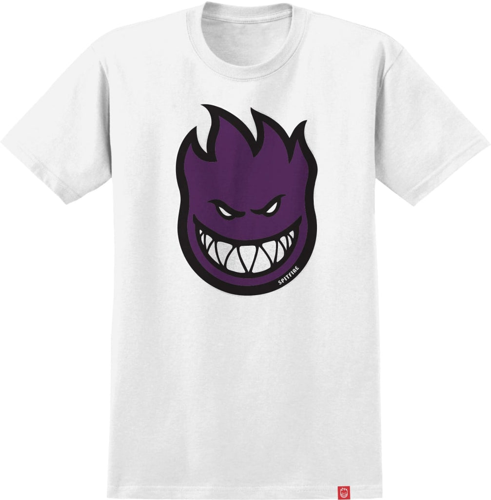 Bighead Fill S/S Tee Shirt Wht/Purp (size options listed)