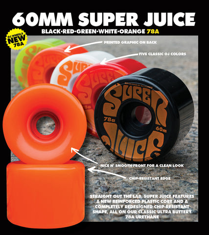 Super Juice 78a Wheels 60mm (color options listed)