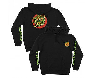 TMNT Turtle Power P/O Hooded Sweatshirt Blk XXL