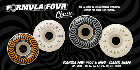 F4 101du Swirl Classic Wheels White (size options listed)